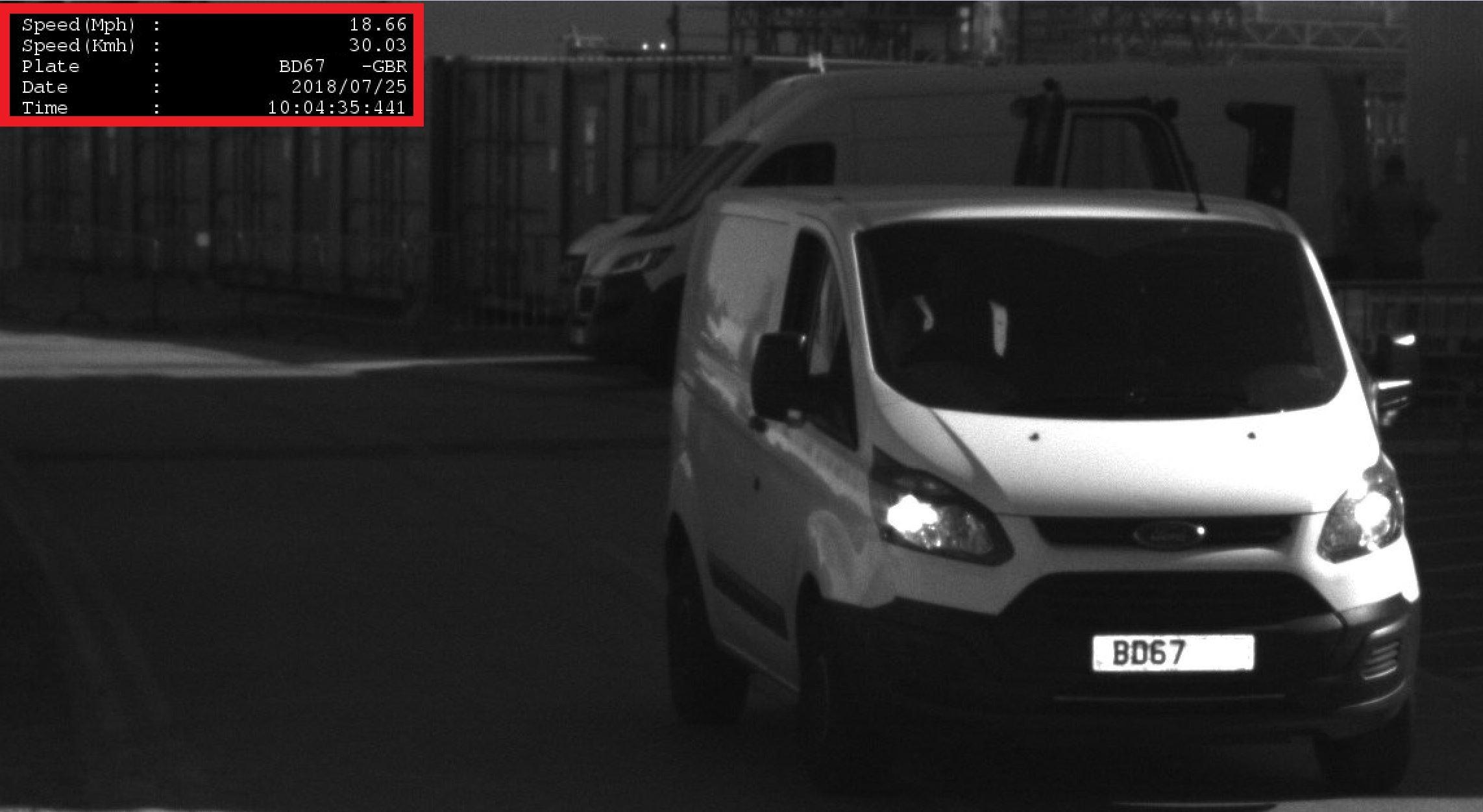 ANPR Speed Camera Vehicle
