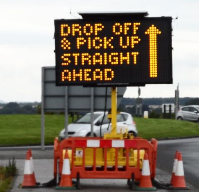 VMS Variable Message Sign on hire to UK Music Festival