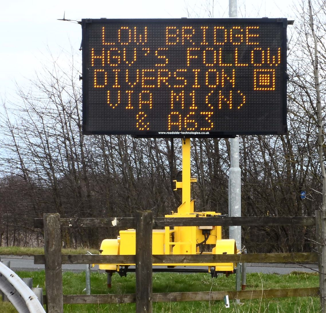 Mobile Variable Message Sign