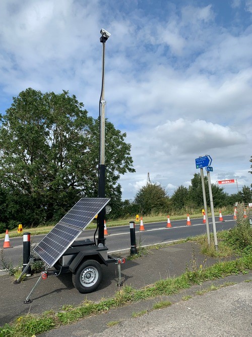 Portable CCTV on highways